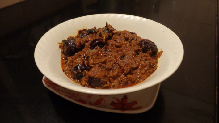 Stuffed Brinjal Curry/Kura