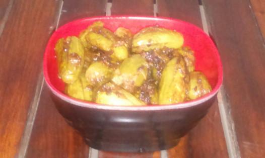 Bharwan (Stuffed) Tindli/Tindora (Dondakaya – Telugu)