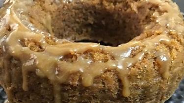 Eggless Carrot Cake with Honey Caramel (Vegan)