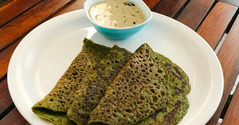 Instant Palak Dosa | Spinach Atta Dosa Recipe