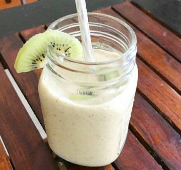 Kiwi Banana Smoothie (Vegan) Recipe