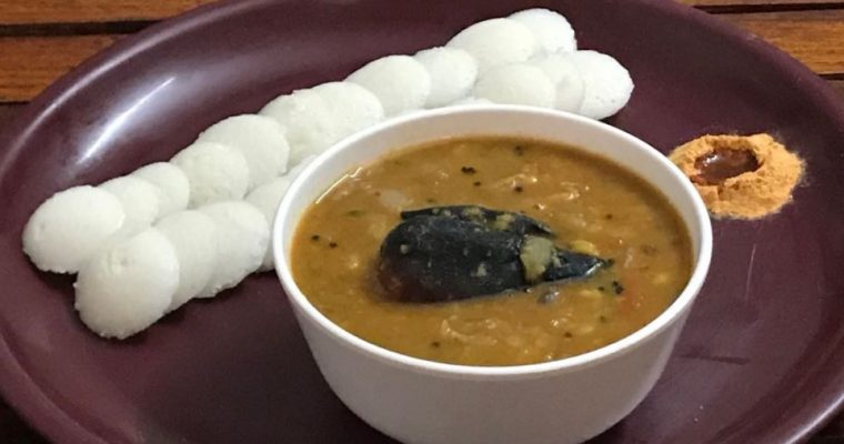 Mini Idli & Pearl Onion Sambar