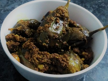Stuffed Brinjal/Bharwa Baingan