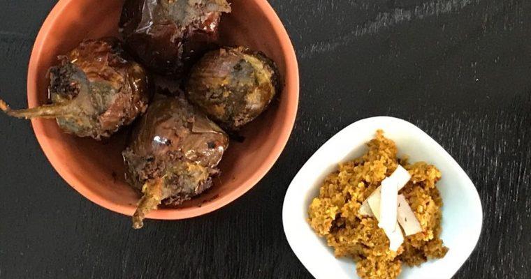 Gutti Vankaya Dry / Stuffed Brinjal Dry