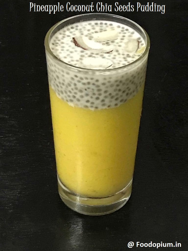 Pineapple Coconut Chia Seeds Pudding