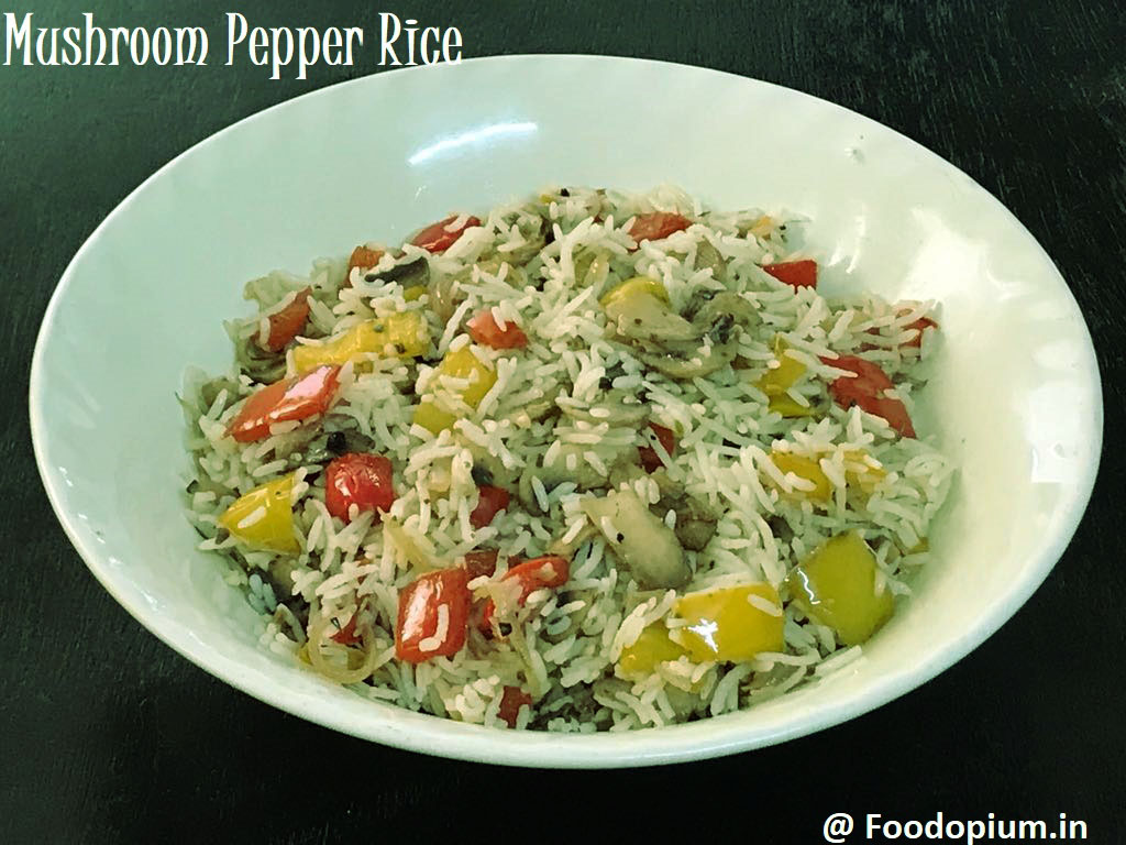 Mushroom Bell Pepper Fried Rice