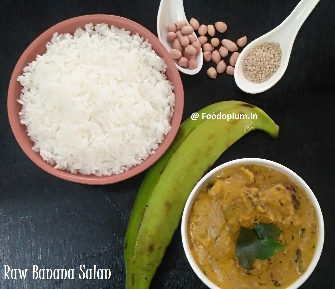 Raw Banana/Plantain Salan