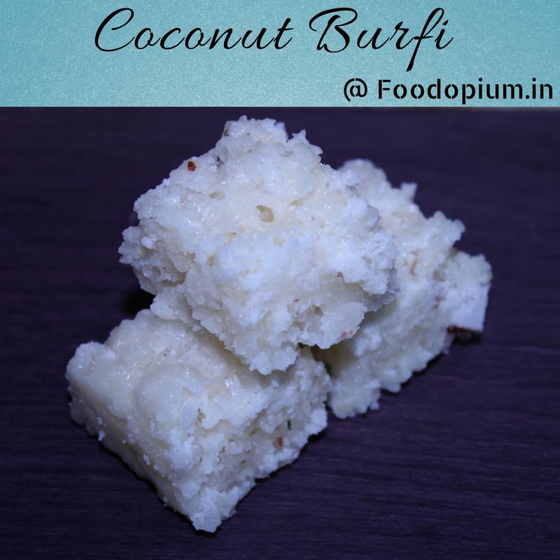 Coconut Burfi Recipe | Nariyal Burfi | Kopra Buri