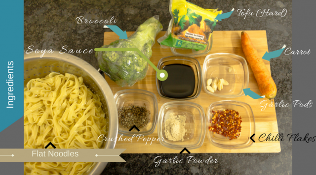 Garlic & Broccoli Lo Mien Ingredients