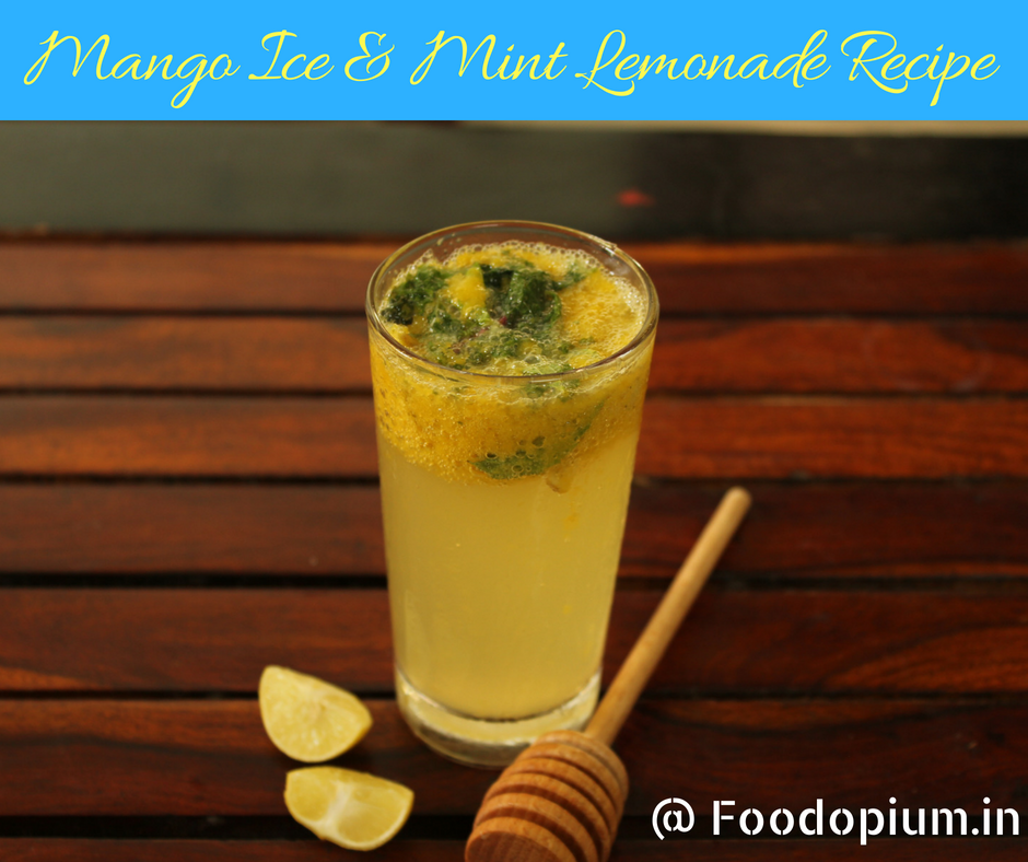 Mango ICE & Mint Lemonade Recipe