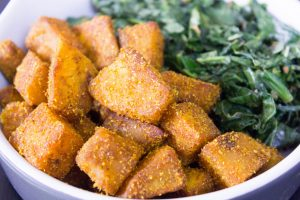 Sweet Potato Tossed Spinach 1.5