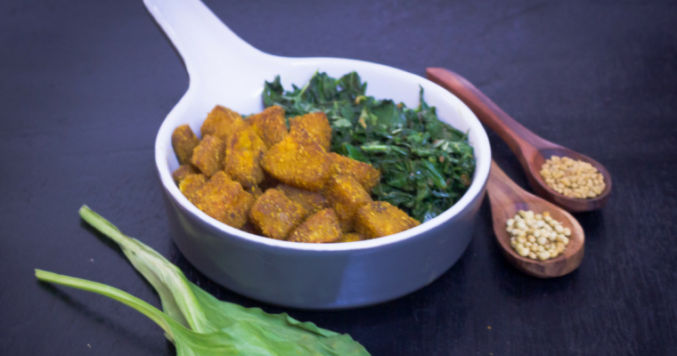 Sweet Potato Tossed in Spices with Sauteed Spinach & Amaranth Leaves