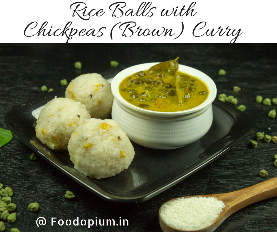 Rice Balls with Chickpeas (Brown) Curry