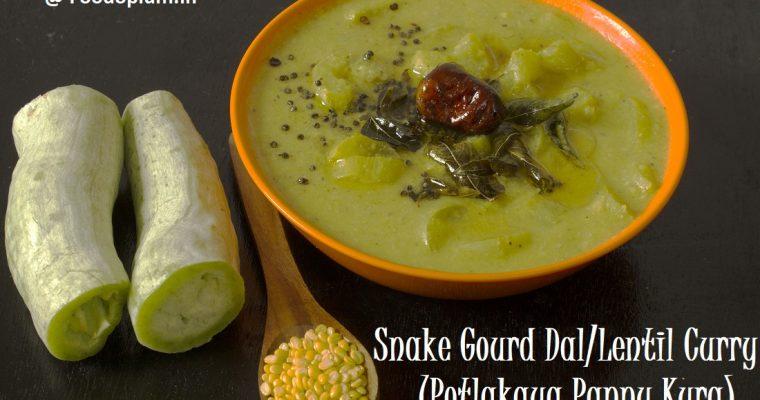 Snake Gourd Curry/Kootu/Dal