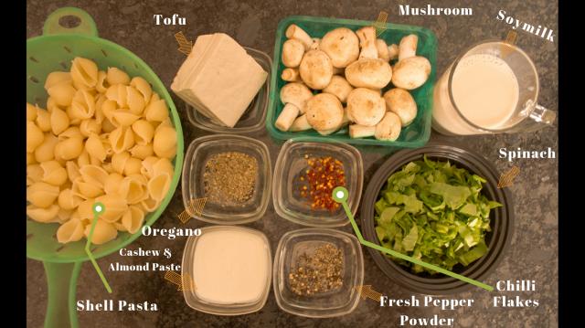 Ingredients Soy Pasta